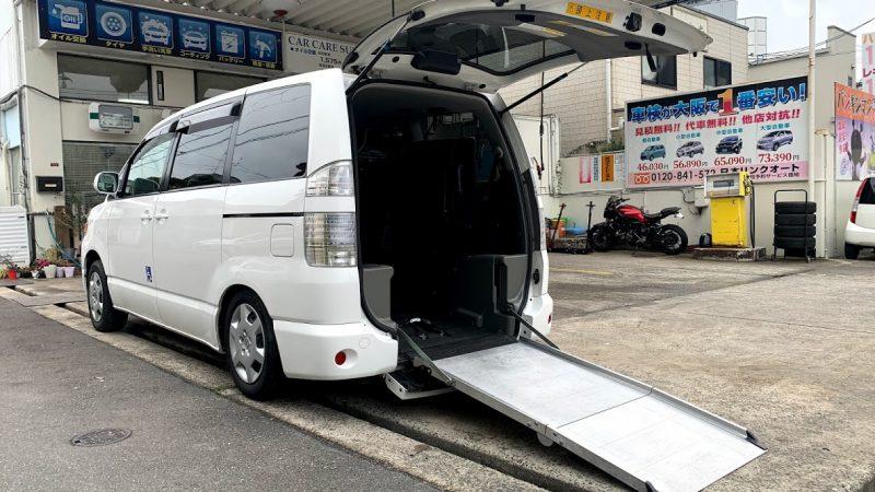 福祉車両 トヨタ ヴォクシー スローパー 車椅子2台 ウェルキャブ