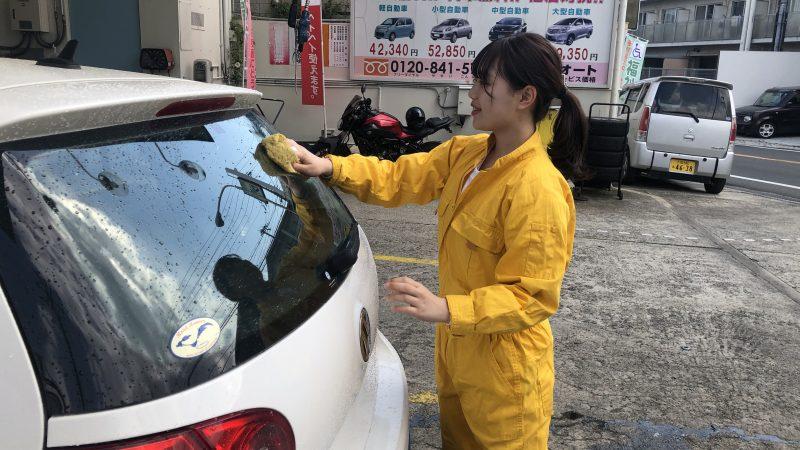 手洗い洗車が盛況です(^^♪