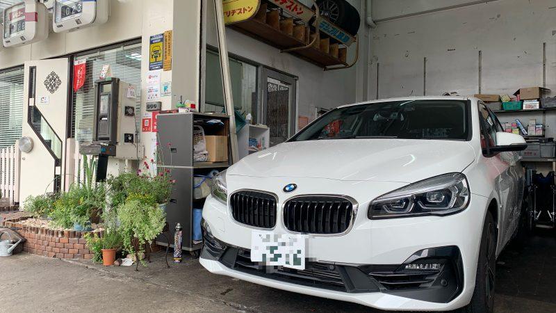BMW 218i レーダー取付け 持込作業