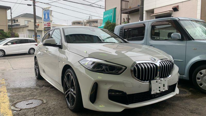 BMW 118d 新車にドライブレコーダーとレーダーを持込にてお取付け致しました。
