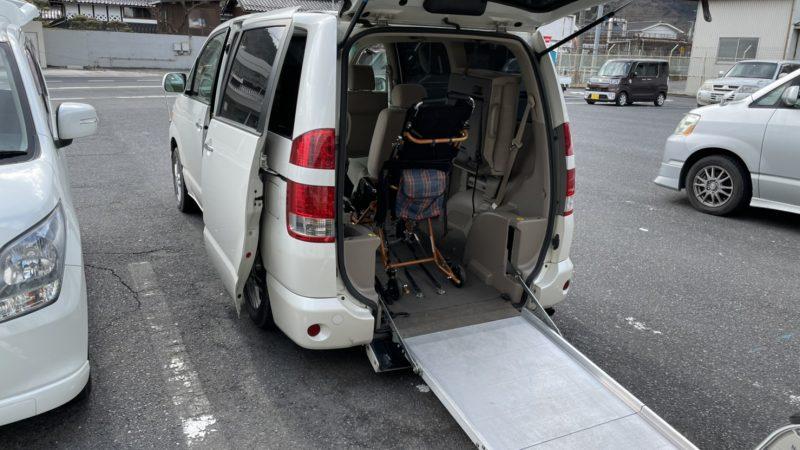 岡山県へ福祉車両の電動固定装置の出張修理に行って来ました。